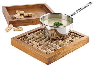 Wine Enthusiast Wine Cork Trivet Kit - contemporary - Oven Mitts And Pot Holders - HPP Enterprises
