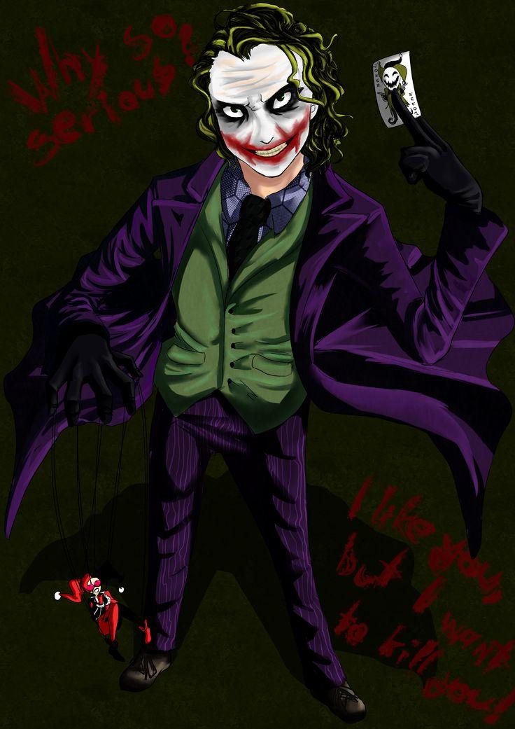 germ.: Erkennt man wer es ist?? :D Es ist Joker!  Ja der Joker von Batman XD Er is einer meiner lieblings Bösewichte *-*  Ich glaub ich mach mehr Fanarts es is volleee witzig an ihnen zu arbeiten *.* Wie gefällt euch das Fanart so? :D  engl.: Do you recognize who it is?? :D It's Joker! Yes, the Joker from Batman XD he is one of my favoutite villains *-* I think I'll make more Fanarts its totally fun to draw them *-* How do you like the Fanart? :D