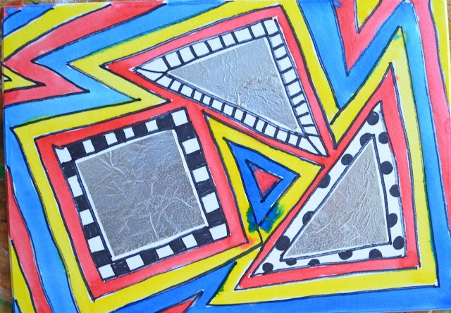 Geometric Foil ShapesArt Blog, Art Lessons, Geometric Foil, Art Ideas, Geometric Design, Geometric Shape, Art Projects, Foil Shape, 2Nd Grade