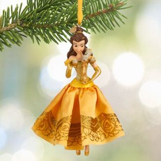 (Disney) Disney US official products beauty and the beast Belle Princess ornaments Christmas tree ornament decoration capdase Belle Sketchbook Ornament toy store presents gifts birthday popular kids children adult boys girls toy Chris