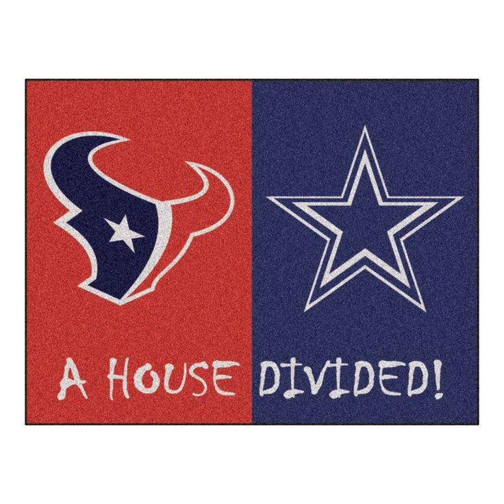 Houston Texans vs Dallas Cowboys Rivalry Rug