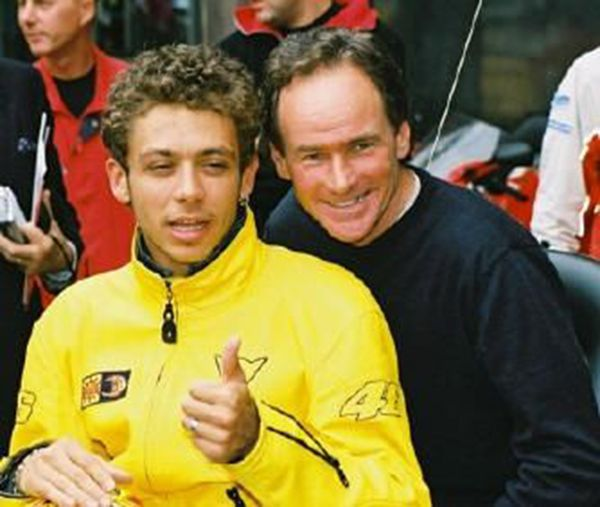Valentino Rossi and Barry Sheene