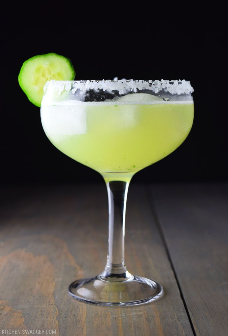 The cucumber basil margarita is a simple cocktail made with fresh muddled basil and cucumber, tequila, triple sec, simple syrup, and lime juice.