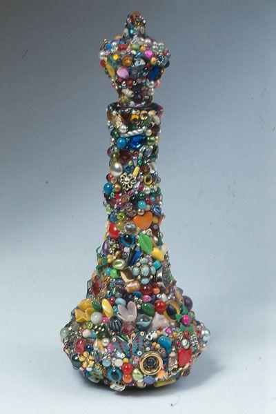 Re-Purposed Jewelry Art ❊ Genie bottle