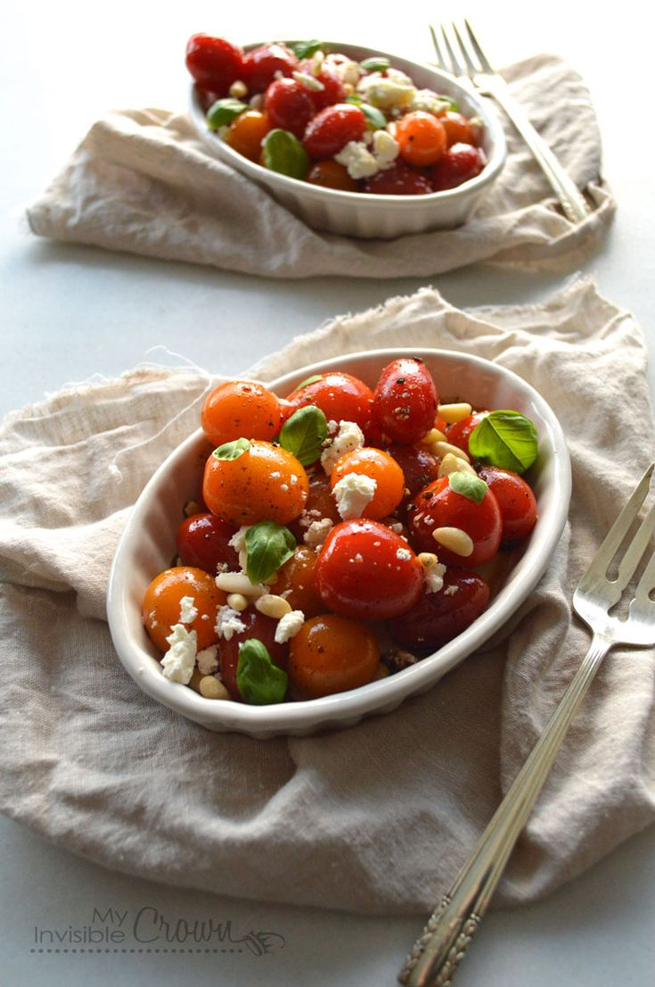 Fresh Tomato and Feta Salad | My Invisible Crown. Great summer recipe with tomatoes from the farmers market, I can't wait for summer!
