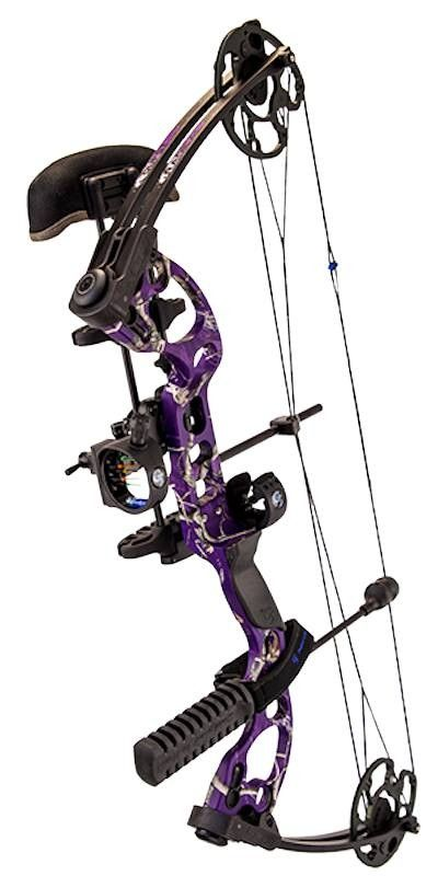 G5 Quest Radical RH Adj. Compound Bow Package Realtree AP Purple Camo