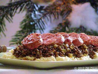 Italiaans recept www.zitizitoni.nl. Cotechino met linzen en pastinaakpuree, Kerstrecepten, Kerst,  www.zitizitoni.nl