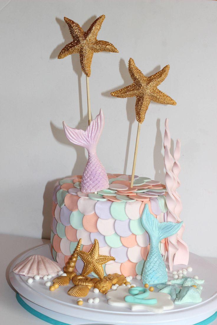 Mermaid Party Fondant Mermaid Tail Cake Topper Sugar Sea
