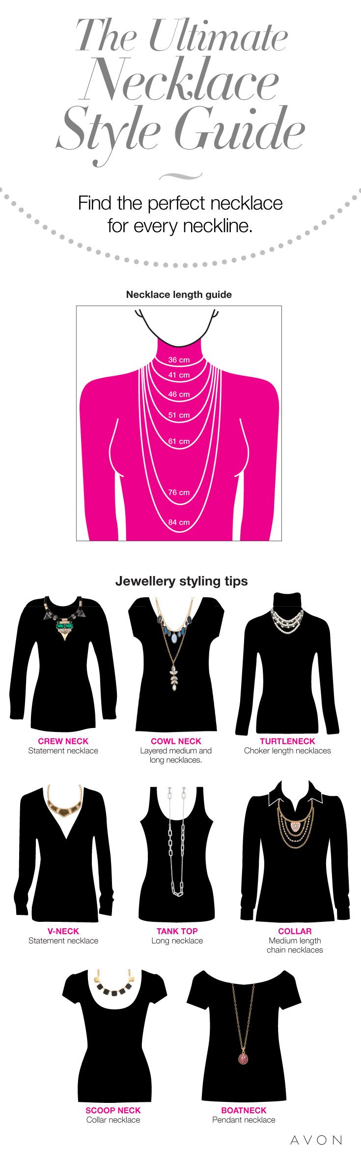 The indispensable necklace styling guide! Find out how to accessorize any neckline. #AvonCanada