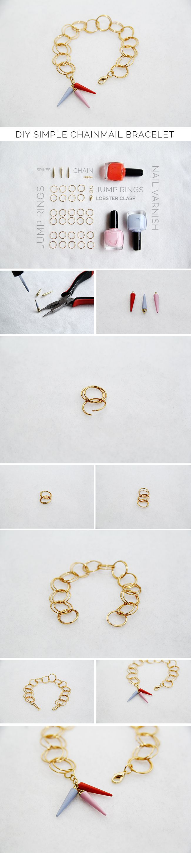 make own jump rings, then this example has interesting ideas to add own focal point and creativity.