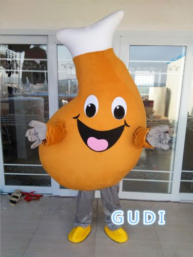 Chicken leg cartoon mascot costumes Halloween party adult size, free shipping
