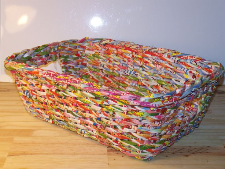 Recycled Paper Magazine Tote