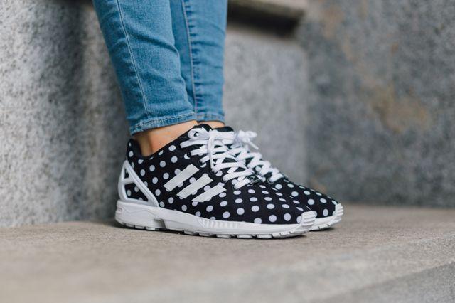 ADIDAS ZX FLUX (BLACK POLKA) - Sneaker Freaker - http://sorihe.com/shoesmens2/2018/03/01/adidas-zx-flux-black-polka-sneaker-freaker/