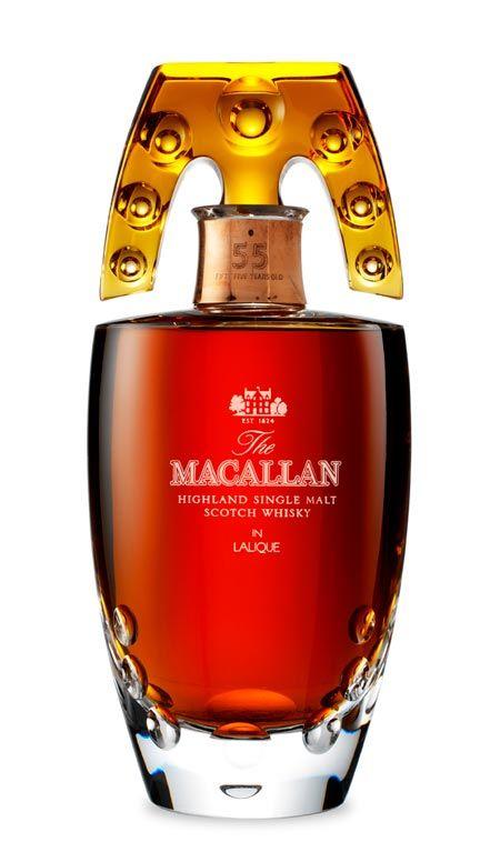 most expensive liquor macallan 55 lalique decanter Top 10 Most Expensive Liquors in the World for Your Shot Glasses