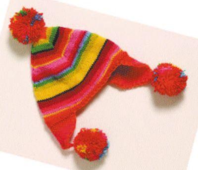 Bonnet péruvien enfant, Modèle de tricot - Loisirs créatifs