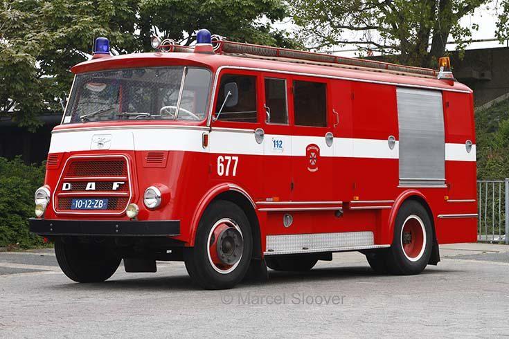 Brandweer Voorhout DAF A1300BA360 uit 1966. Foto: Marcel Sloover