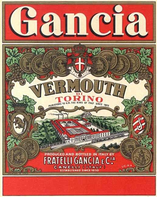 etichetta Gancia