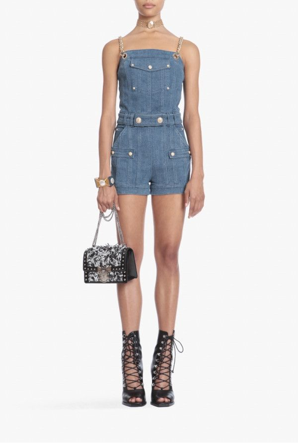 62217b8a23e Short denim jumpsuit