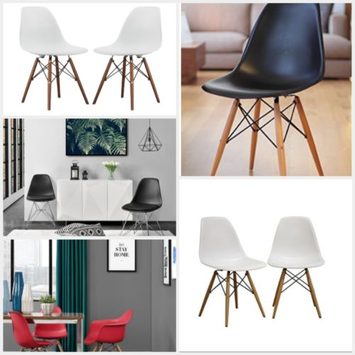 Mid Century and Eames Style Eiffel Kitchen and Dining Chairs for Exotic Feel