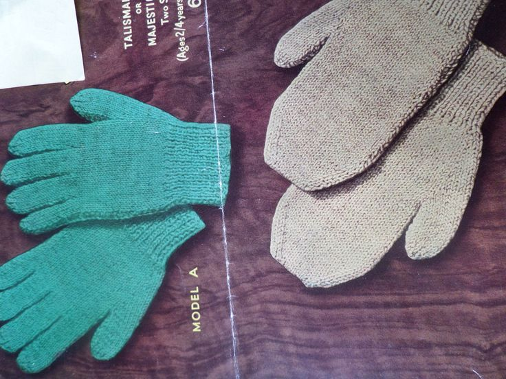 Knitting Pattern Gloves and Mittens Children Boys and ...
