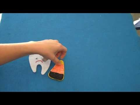 Children's Preschool Songs ~ Happy Tooth Sad Tooth Flannel Board Story