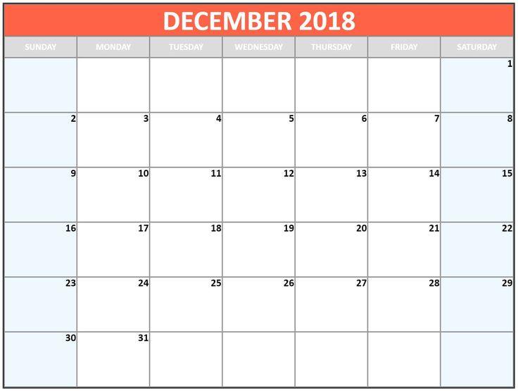 Calendar December 2018 Template Word December 2018 Calendar