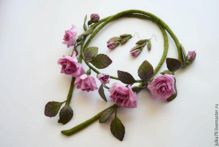 Купить Пояс розы 2 - бледно-розовый, цветочный, пояс женский, пояс, пояс с…