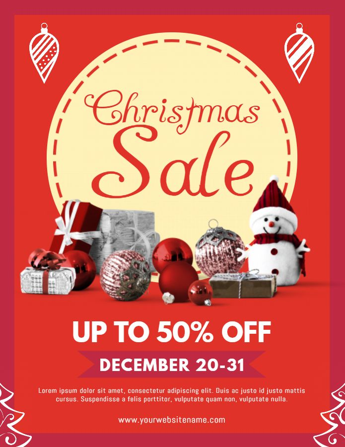 Best Christmas Retail Poster Templates Images On