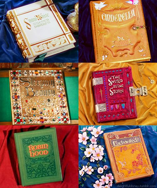 Disney Books from the opening scenes