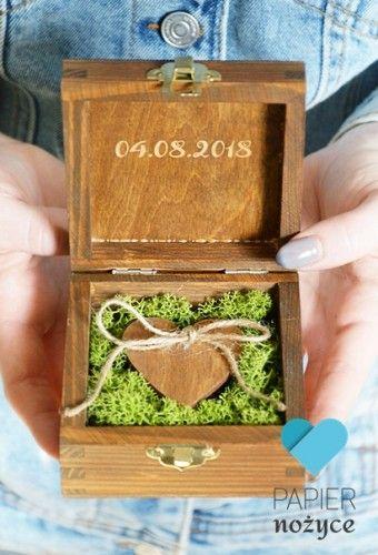 """""""Heart of the forest"""" - Pudełko na obrączki"""