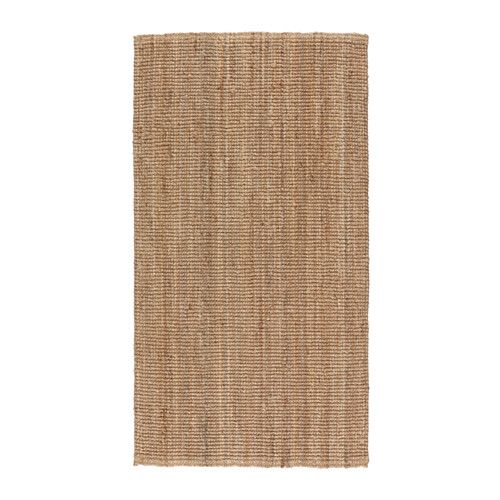 IKEA - LOHALS, Rug, flatwoven, Jute is a durable and recyclable material with natural color variations.