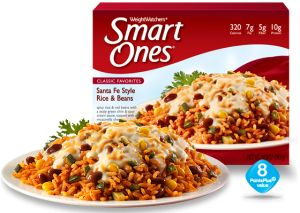Freezer-friendly copycat SmartOnes Santa Fe Rice & Beans. Recipe would make several lunches.