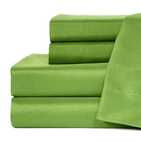 Grass Green Microfiber Twin XL Sheets
