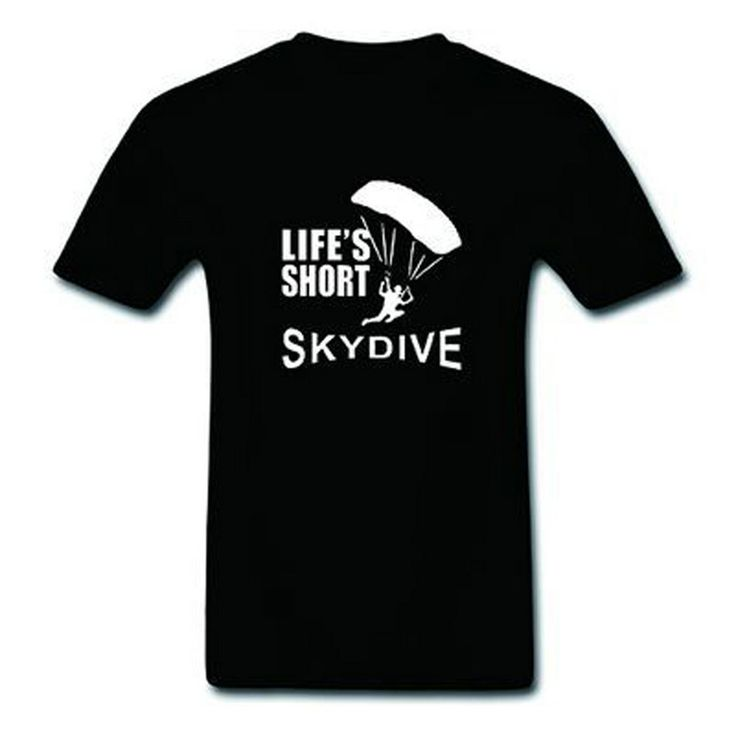 >> Click to Buy << Lifes Short Skydive Skydiving Parachute Skydiver Top Tee 100% Cotton O-Neck Adults Short Sleeve Men's T-Shirt  #Affiliate