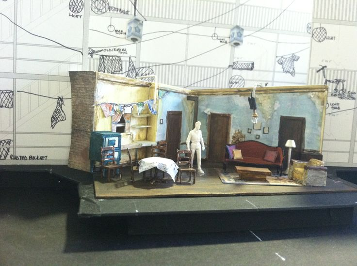 A model of the set for A Raisin in the Sun, from Scenic Designer Dede Ayite.: Design Dede, Scenic Design, Theatrical Design, Staging Design