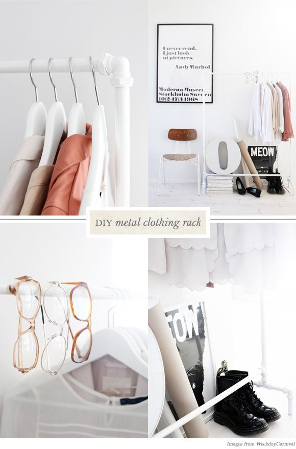 DIY Clothing Racks from WeekendCarnival - Home - Creature Comforts - daily inspiration, style, diy projects + freebies