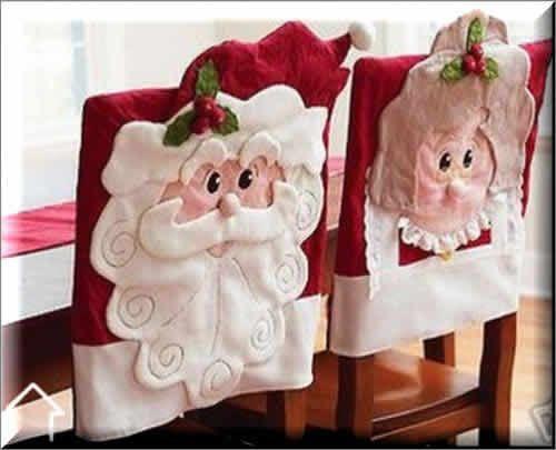 Fundas para sillas de Santa Claus y señora Claus, ideales para decorar, 2014 | Adornos de Navidad