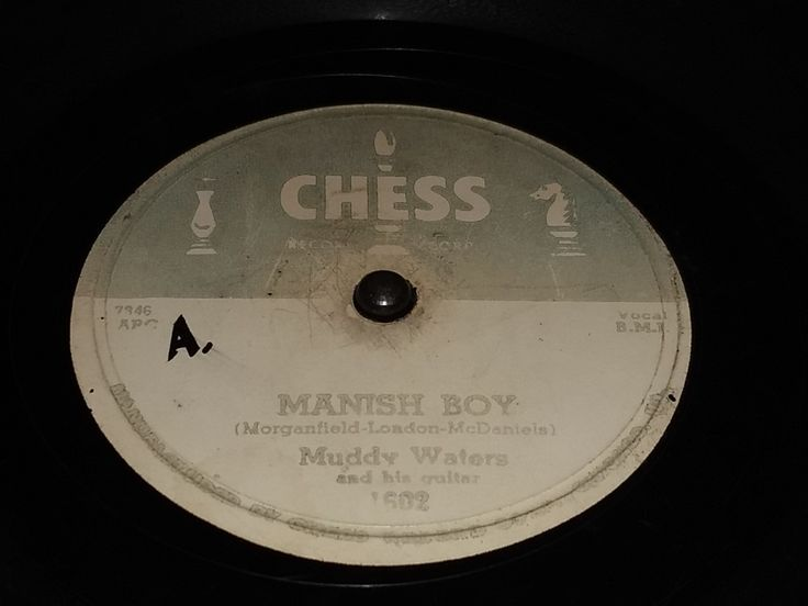 Muddy Waters Manish Boy 78 RPM Chess Records 1955
