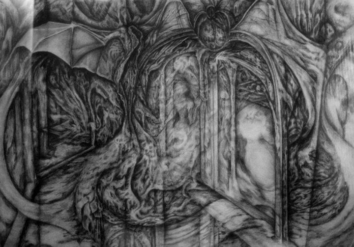 Gate~pencil drawing by N Berry