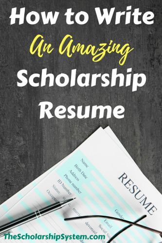 How to Write an Amazing Scholarship Resume http://www.thescholarshipsystem.com/blog-for-students-families/write-amazing-scholarship-resume/?utm_campaign=coschedule&utm_source=pinterest&utm_medium=The%20Scholarship%20System&utm_content=How%20to%20Write%20an%20Amazing%20Scholarship%20Resume