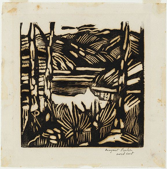 Artist: PRESTON, Margaret | Title: Calabash Bay, Berowra | Date: c.1939 | Technique: woodcut, printed in black ink, from one block | Copyright: © Margaret Preston. Licensed by VISCOPY, Australia