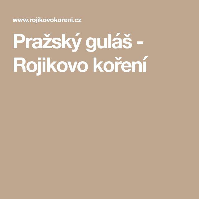 Pražský guláš - Rojikovo koření