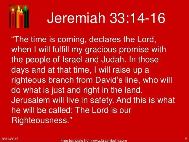 Jeremiah 33:14-16