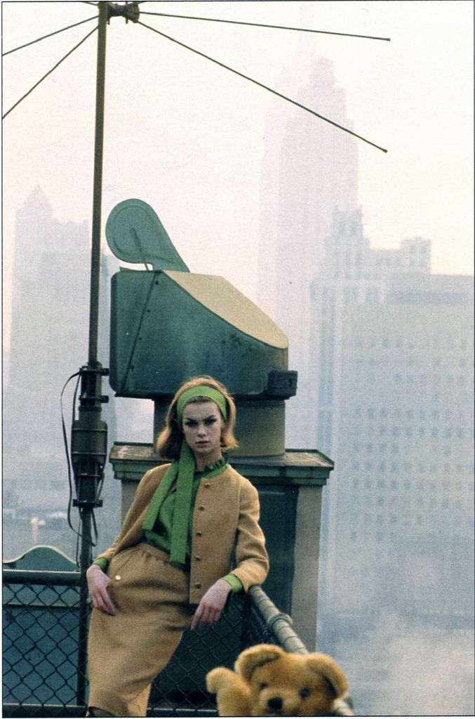 Jean Shrimpton (& Teddy) by David Bailey, New York, 1962