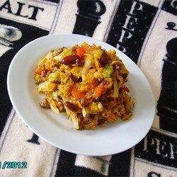 ideas for nachos ingrediants    minus the doritos.    Spicy Dorito(R) Taco Salad Allrecipes.com