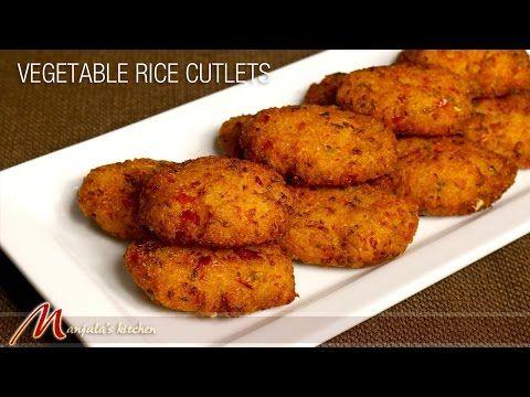 Vegetable Rice Cutlets - Manjula's Kitchen - Indian Vegetarian Recipes