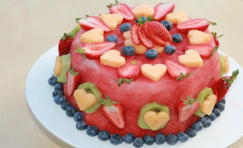 Too hot to bake? Cool down with a delicious fresh fruit cake!