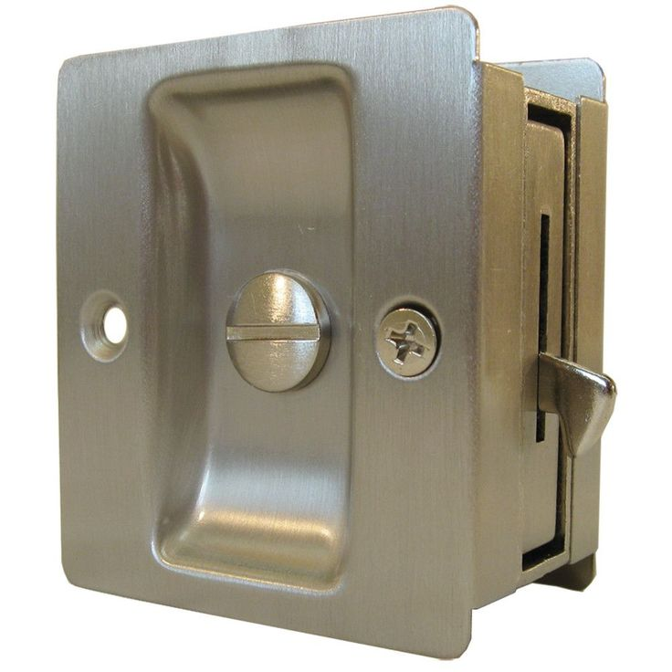Ideal for bedrooms, bathrooms and other small spaces, the premium square pocket door lock combines form and function in an easy-to-use door pull. The lock features a flip-out pull that allows you to e