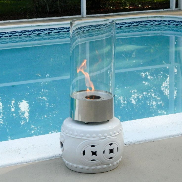Nu Flame Cristallo Cylinder Table Top Ethanol Fireplace