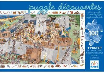 leerrijke puzzel 'de burcht' (100st) DJECO | kinderen-shop Kleine Zebra